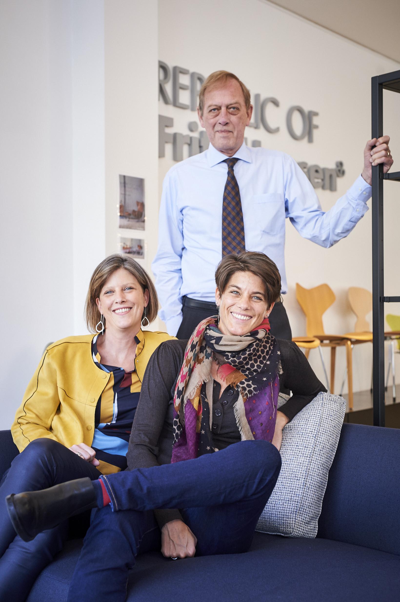 Dominique Rigo et ses deux filles...